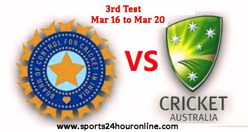 IND vs AUS 3rd Test Live Cricket Score, Online Streaming Mar 16 - Mar 20 Today Live Cricket Match, Live Scoreboard, India vs Australia 3rd Test Match Result