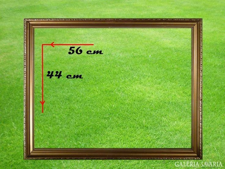 5283 Antik vágható aranyozott képkeret 56 x 44 cm