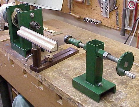 Taig Milling machine and Shop-made Wood lathe