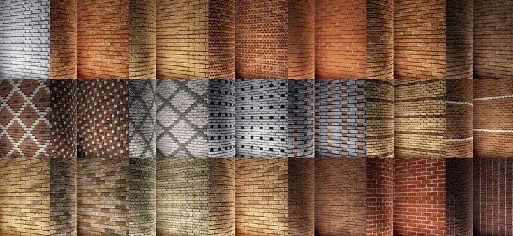 Chocofur comparte esta semana una colección con 45 texturas de ladrillos en alta resolución, cada una con sus respectivo shader para Blender.