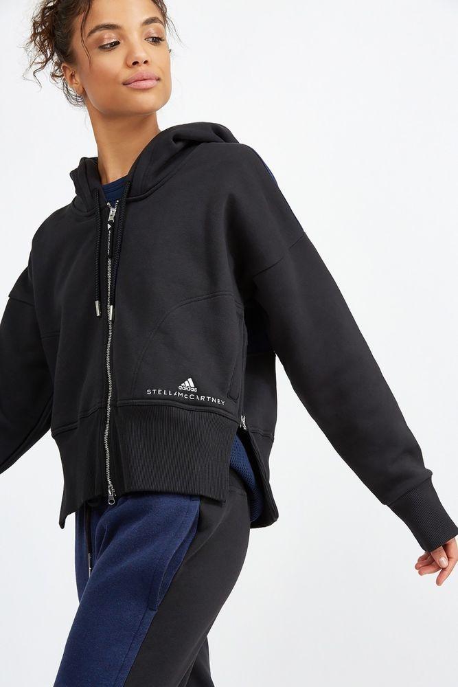 2e9c86c5e New Womens Adidas Stella McCartney Black Essentials Zip Up Workout Hoodie  Small #adidas #Hoodie