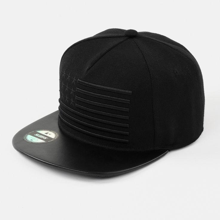 Triple Black American Flag Adjustable Hat