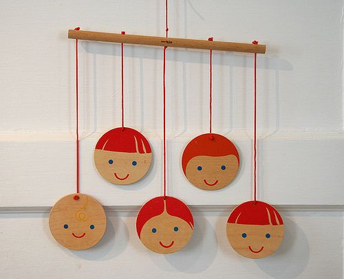 smiling faces mobile by Hillary Lang, via Flickr