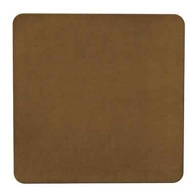 4 x 4 SKID-RESISTANT Area Rug Kitchen Carpet Floor Mat BRONZE GOLD