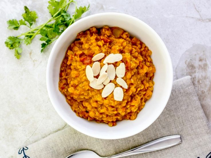 Hustá šošovicová polievka na indický spôsob