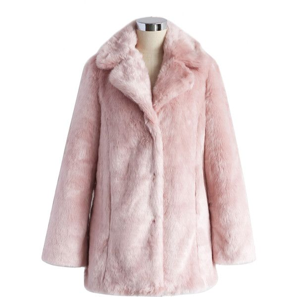Chicwish Pink Marshmallow Faux Fur Coat (€74) ❤ liked on Polyvore featuring outerwear, coats, jackets, pink, tops, fake fur lined coats, imitation fur coats, pink faux fur coat, fur-lined coats and pink coat