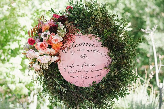 Welcome to our wedding wreath