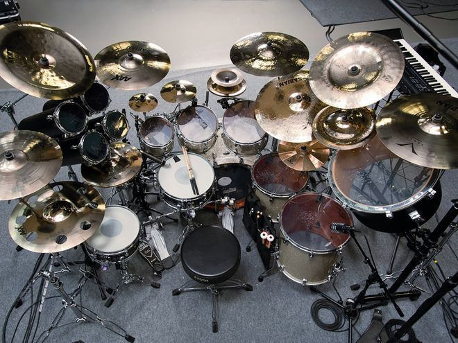 Mike Portnoy's (ex-Dream Theater) drum kit.