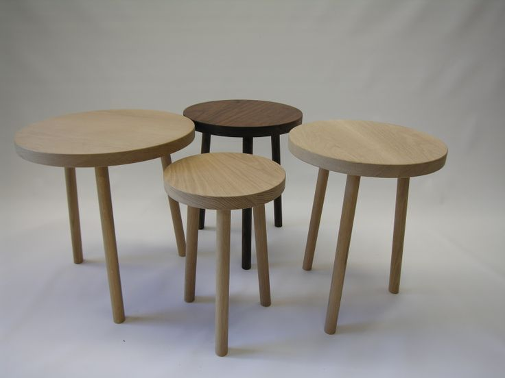 american oak and american walnut side tables and stools,various sizes ,handmade,customized furniture @chriscolwelldesign