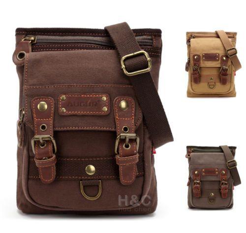 Men-039-s-canvas-Mailbag-Sling-Bag-Cross-Body-Hiking-Messenger-Shoulder-Bag-Small