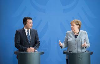 En Arxikos Politis: Η Άνγκελα Μέρκελ καλωσόρισε τον Μακεδόνα πρωθυπουρ...