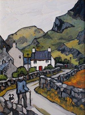 British Artist David BARNES - Homeward Bound in the Pass