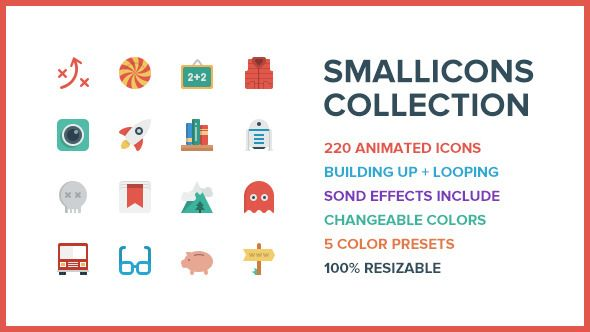 Smallicons — 220 Animated Icons