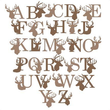 Deer Alphabet SVG scrapbook title winter svg cut file snowflake svg cut files for cricut cute svgs free