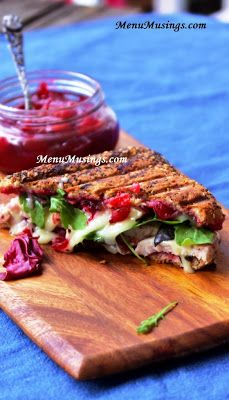 Turkey and Brie Panini with Cranberry Chutney - You'll definitely want to save this idea for after Turkey day! YUM!!! Step-by-step photos.