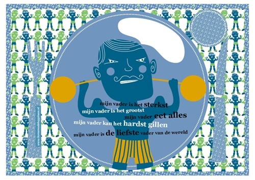 Daddy Cool: Vaderdag Placemat