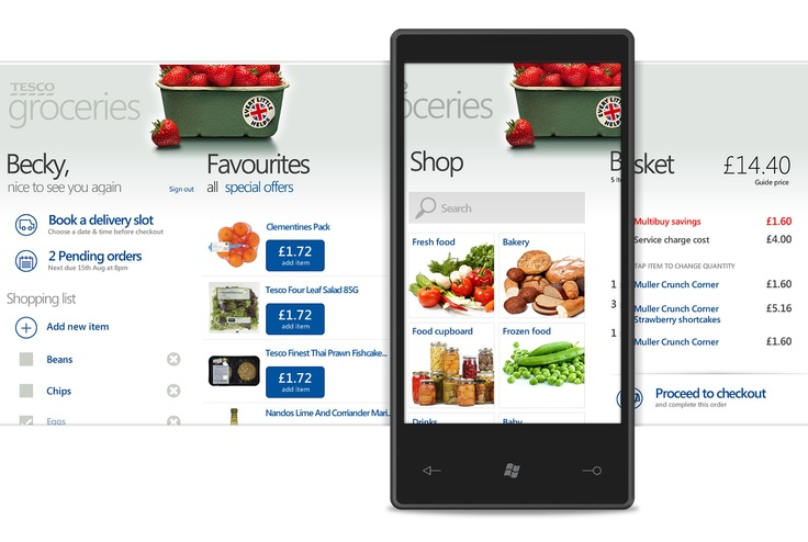 Tesco Groceries Windows Phone App