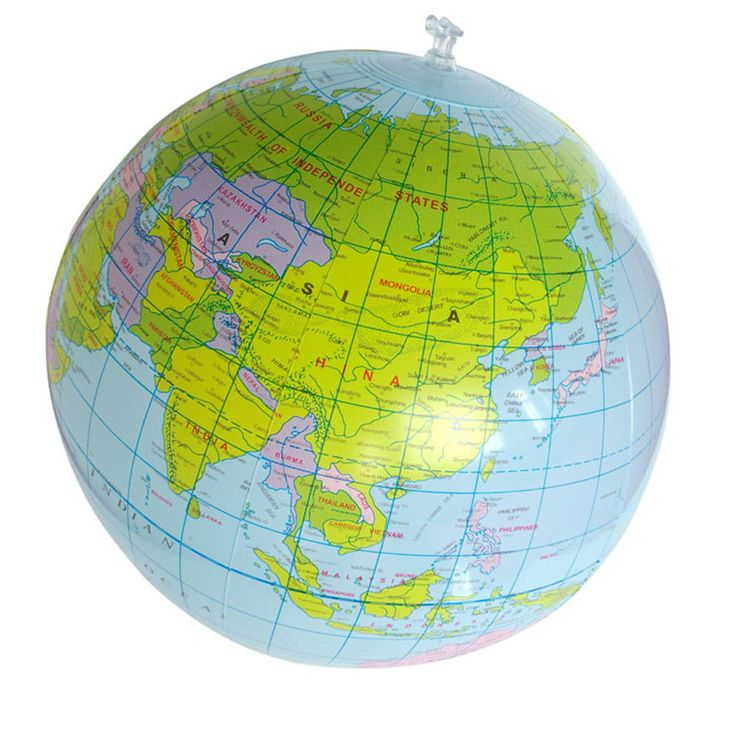 Comfortable life 40CM Inflatable World Globe Teach Education Geography Map Balloon Beach Ball model free shipping A10
