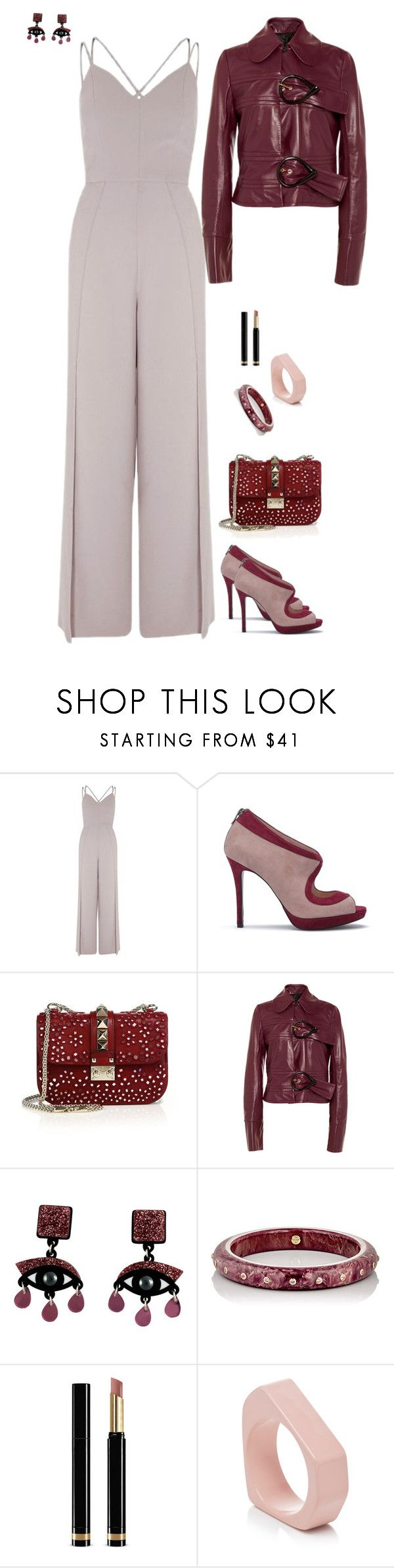 """""""Aderson."""" by srtagraham ❤ liked on Polyvore featuring River Island, Valentino, J.W. Anderson, Jennifer Loiselle, Mark Davis, Gucci and Marni"""