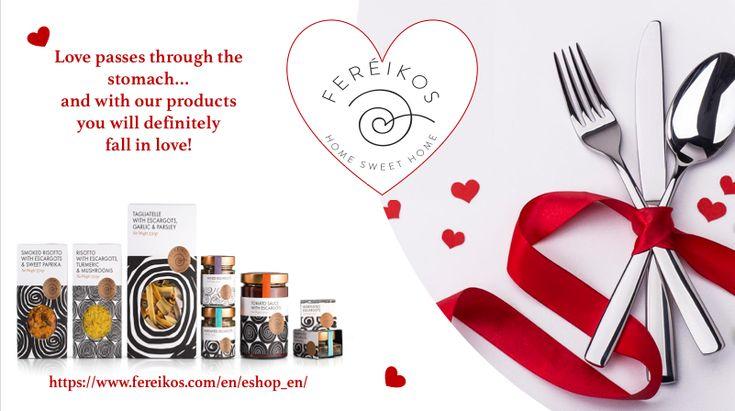 Ο έρωτας περνάει απο το στομάχι .. και με τα νέα μας προϊόντα σίγουρα θα ερωτευθείτε! https://www.fereikos.com/el/eshop_gr/  #Fereikos #love #valentinesday #snails #escargots #lumache #caracoles #hearth #instalove #healthyfood #sain #readytoeat #gourmet #finefoods #instafood #happyday #σαλιγκάρια #goodfood #
