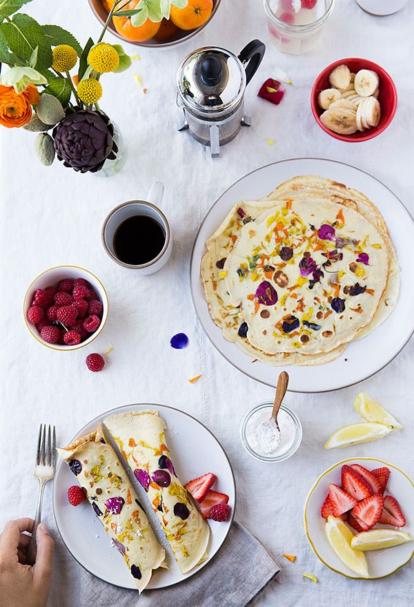 Edible Flower Crepes   Say Yes   Bloglovin'