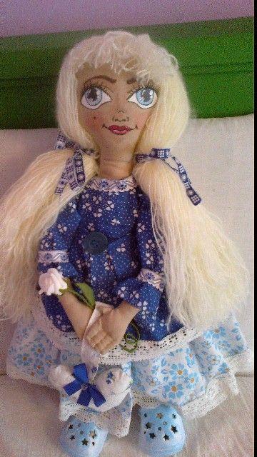 panenka v modrém