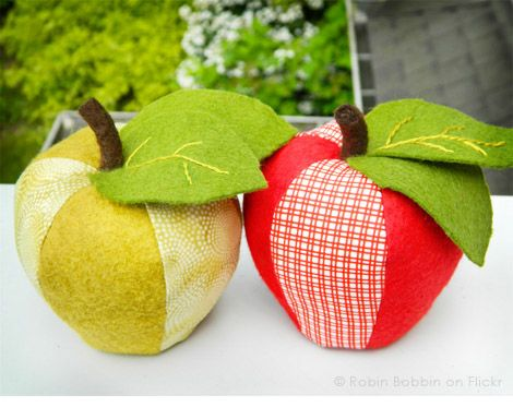 PDF Sewing Pattern for Scrappy Apple Pincushion and ...