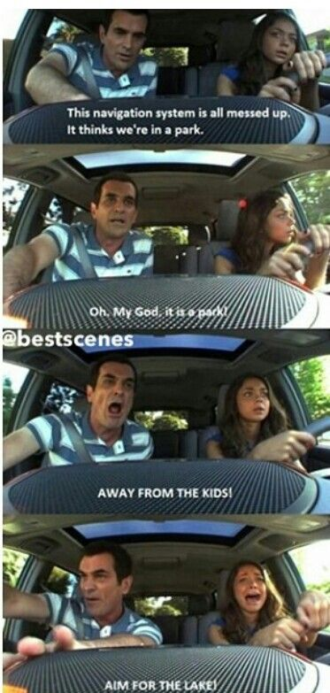 oh my god...so funny...every quote i read I'm crying! Modern family