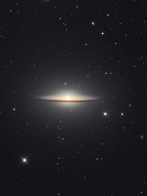 The Sombrero galaxy was voted best picture taken by the Hubble telescope. The dimensions of the galaxy, officially called M104, are as spectacular as its appearance. The Sombrero Galaxy spans about 50,000 light years across and lies 28 million light years away.