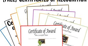 Free Certificates of Recognition for Homeschool students.