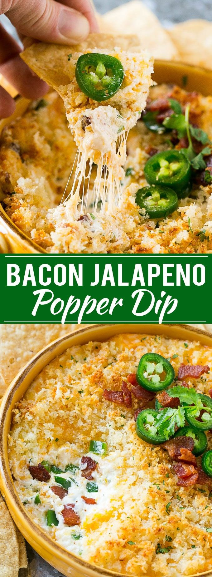 Jalapeno Popper Dip with Bacon Recipe | Cheesy Dip | Easy Appetizer | Jalapeno Poppers | Bacon Dip