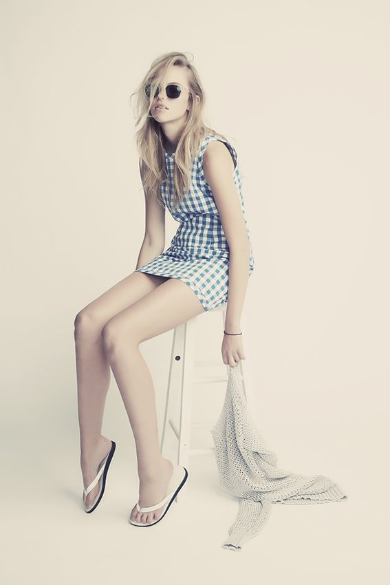 The Decorum, Check Mate in Cali and Cale Queens sandal in white