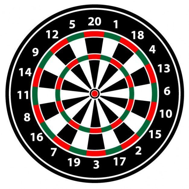 Realistic dartboard vector illustration