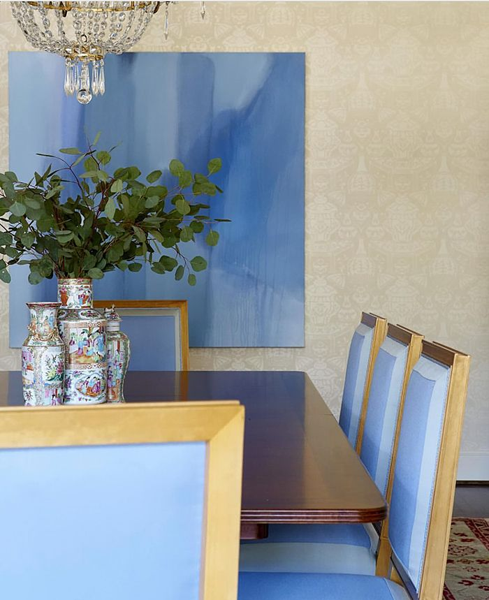 Blue And White Monday Cynthia Collins Interiors Formal Dining RoomsWhite