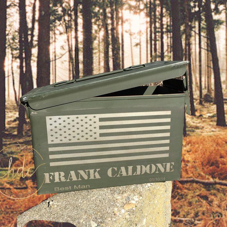 Groomsman ammunition box , ammo box , unique groomsman gifts , hunter ammo box, personalized ammo boxes