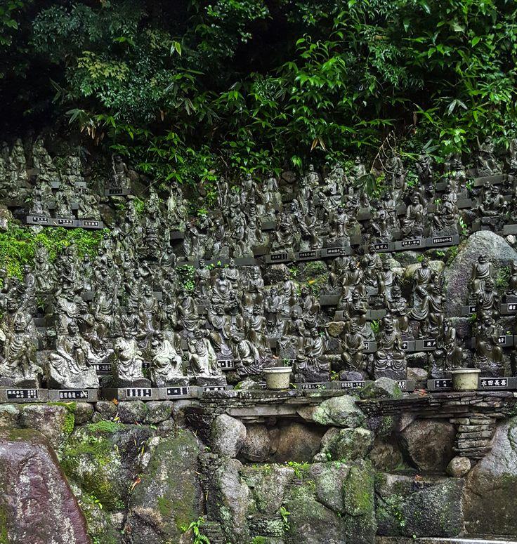 Small Shrines Reclining Buddha Nanzoin Temple Fukuoka