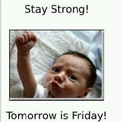 :) For all my people who are looking forward to Friday as much as I am.