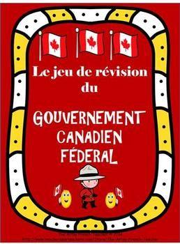 $ jeu de révision du Gouvernement canadien fédéral EN FRANÇAIS. C'est une activité amusante qui permettra aux enfants de réviser pour une épreuve ou montrer ce qu'ils ont appris.