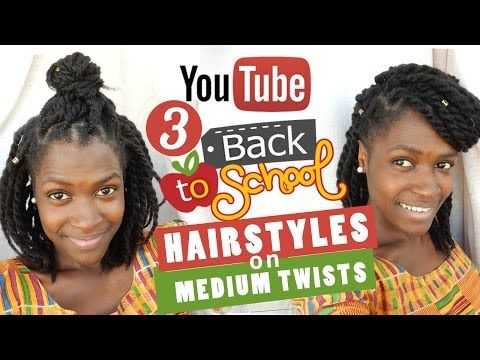3 Cute and Easy Back to School Natural Hairstyles Collab 2016 - YouTube
