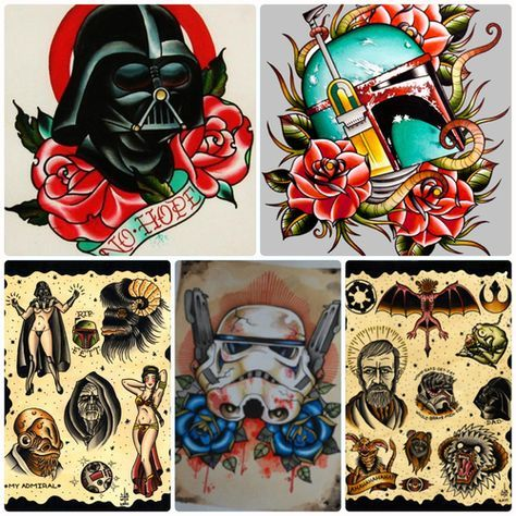 Found on Tumblr - Excellent Star Wars tattoos.