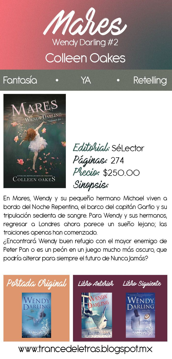 Mares (Wendy Darling #2) de Colleen Oakes