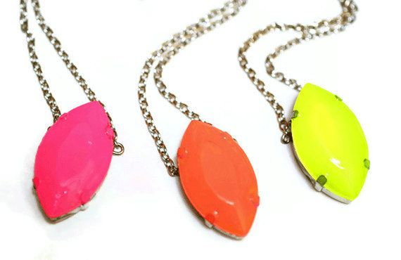 neon Cats Eye necklace