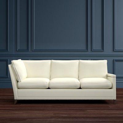 Addison Three Cushion Corner Sofa With Down Blend Right Two Tone