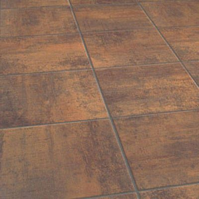 Copper-Stone laminate tile flooring- not a bad idea for a quick kitchen redo! Inexpensive, quick and looks nice