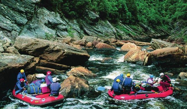 White water rafting, Franklin River Tasmania