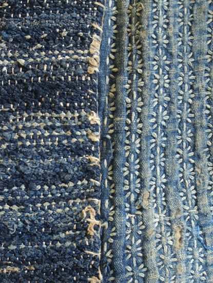 Sakiori, indigo cotton and hemp @Chelsea Rose Rose Rose Hausen project
