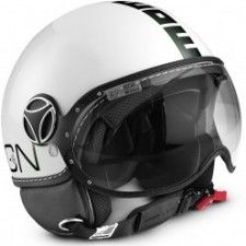 Casque Momo Design Classic Blanc mat noir #speedwayfr #speed #france #scooter #casque #white #blanc #casques
