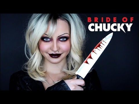 Best 25 chucky costume ideas on pinterest diy chucky costume amazing bride of chucky tiffany transformation makeup tutorial solutioingenieria Choice Image