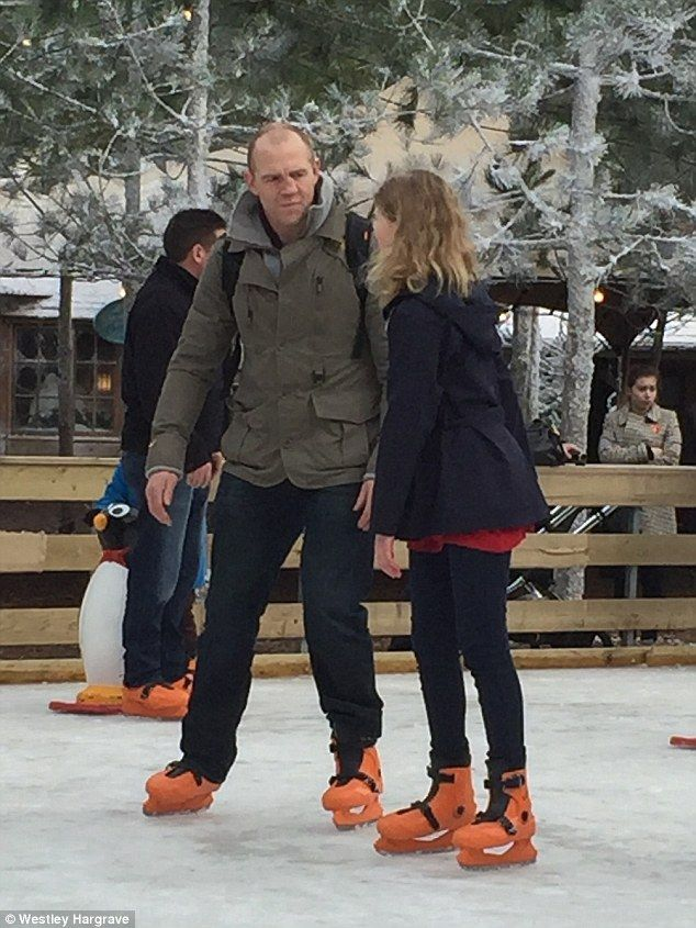 This is easy compared to The Jump! Mike Tindall, 37, chats to Lady Louise Windsor, 12, as they take a twirl