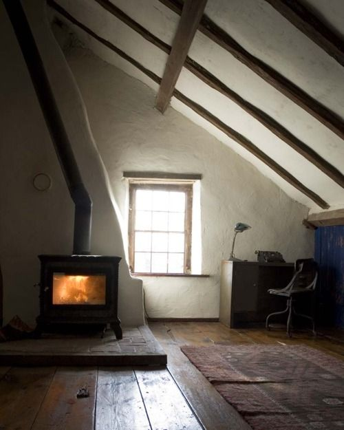 bosca: Wood Burning Stove, Woodburning, Floors, Attic Spaces, Interiors, Fireplaces, Attic Rooms, House, Wood Stove